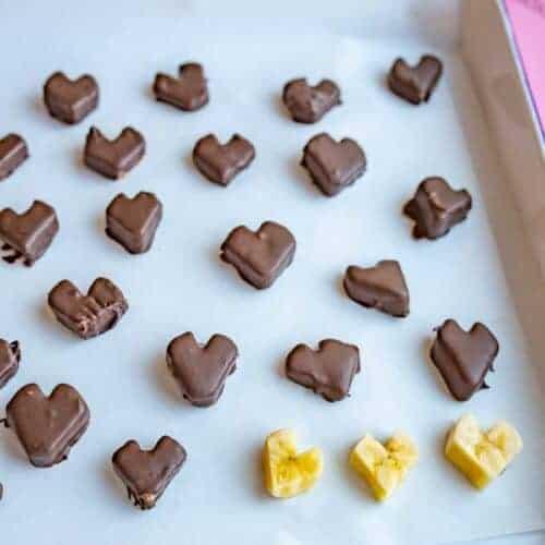 Chocolate-Covered Banana Hearts