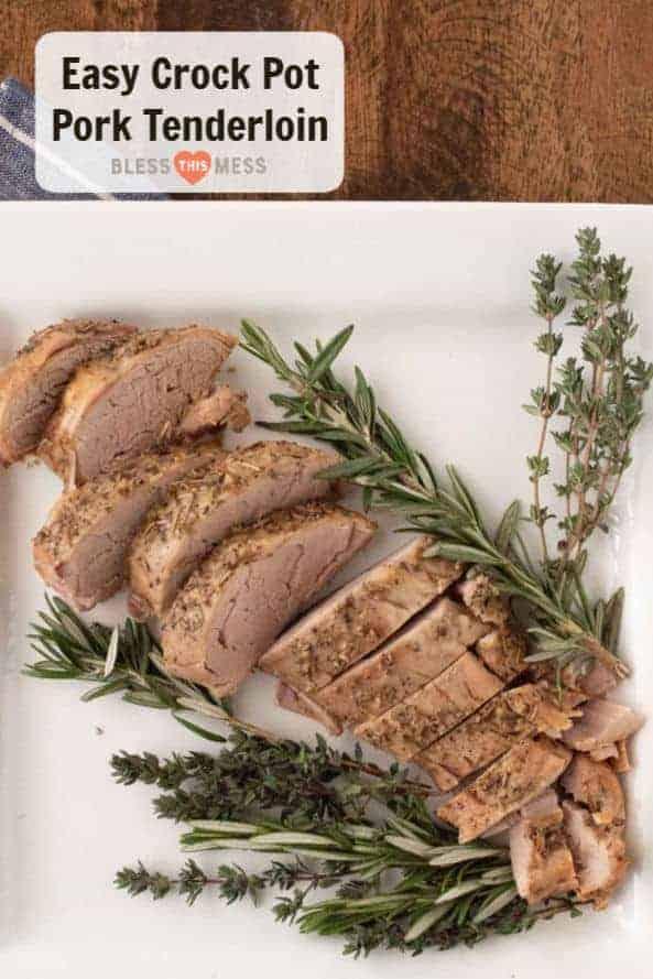 Garlic Herb Crock Pot Pork Tenderloin   Easy Pork Tenderloin Recipe