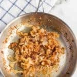 Caramelized onions are sweet, creamy, and luxurious to the palate. The low and slow cooking method cuts any of that tangy, sharp flavor that raw onions are so well known for, making these the perfect addition to just about any entree!