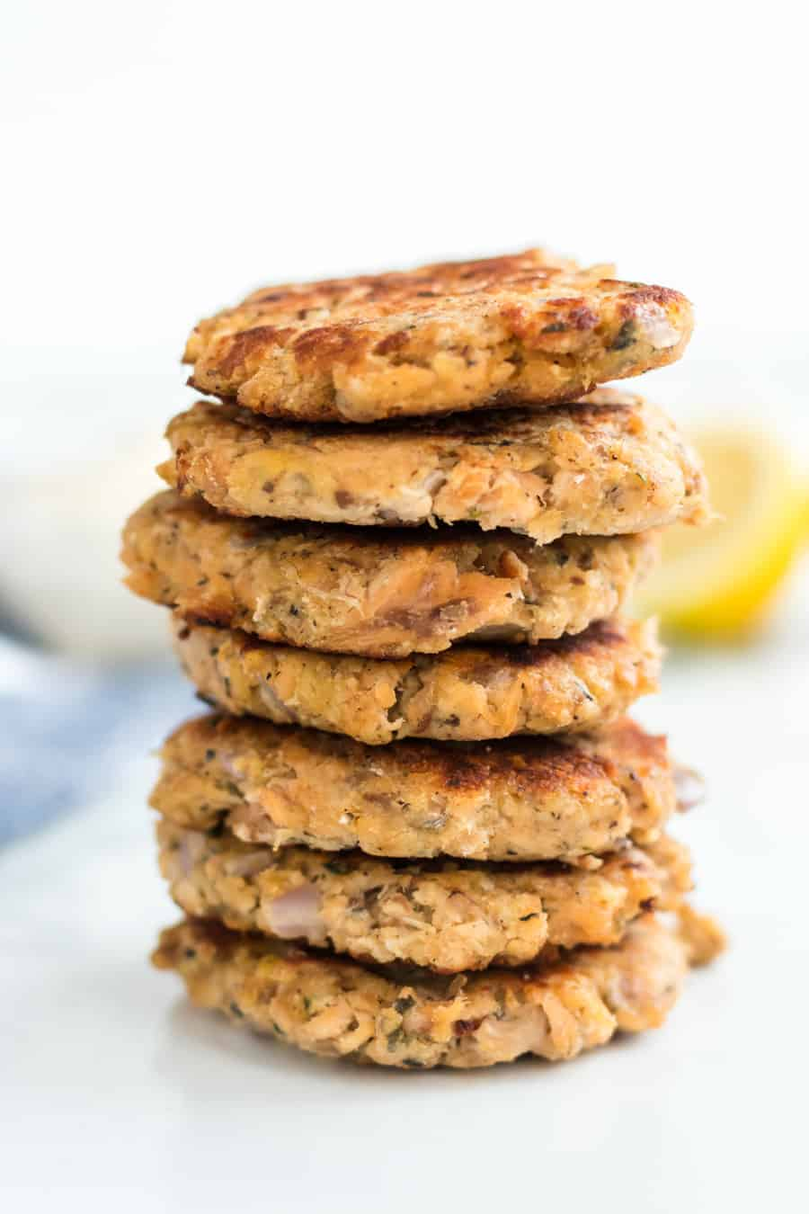 Homemade salmon patties made with canned salmon, dried bread crumbs, onion, and a few other simple ingredient that only take about 30 minutes to make.