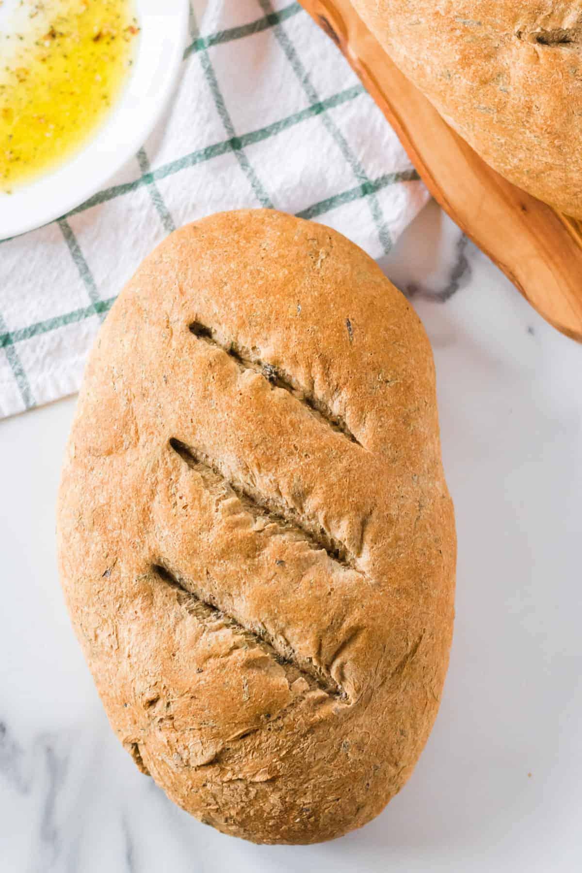 Whole Wheat Spinach Bread | Easy Homemade Bread Recipe