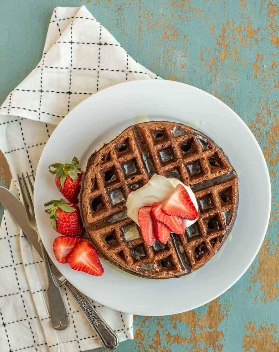 Image of Easy Chocolate Waffles