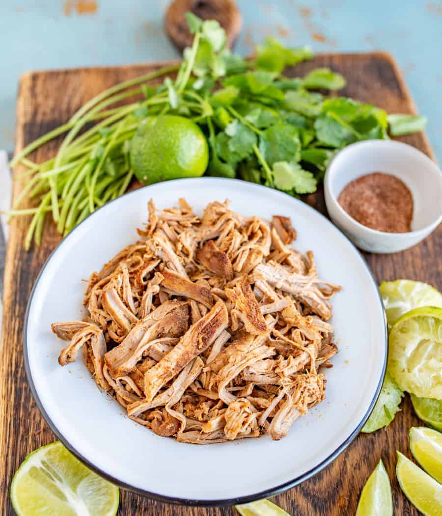 How to cook Pork Tenderloin for Tacos in the Crock-Pot so that it makes moist, super flavorful meat, with only 5 minutes of hands-on time and 4 hours of cooking.