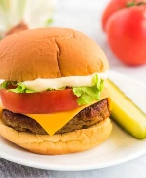 With all the traditional toppings of lettuce, tomato, cheese, and pickles — you might decide these Veggie and Lentil Burgers are just as tasty and flavorful as a regular meaty hamburger!