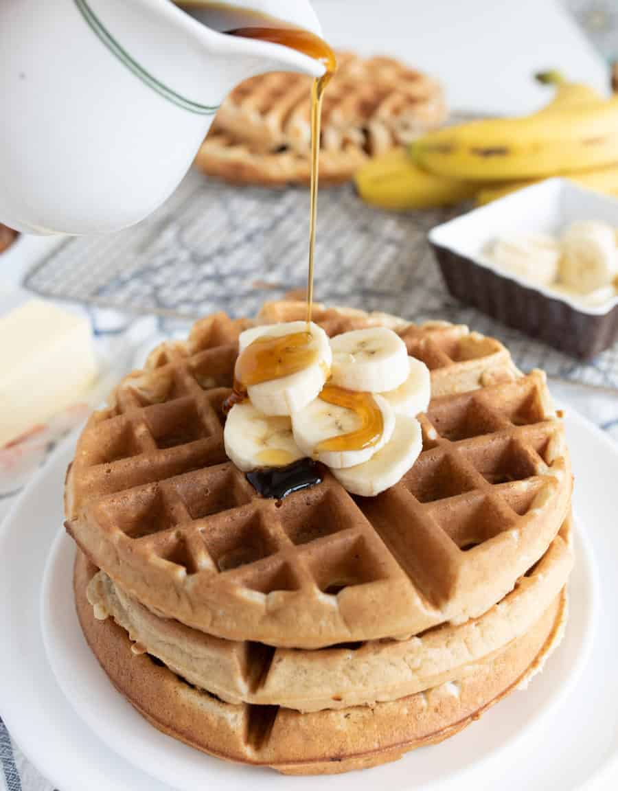 Image of the Best Banana Waffles