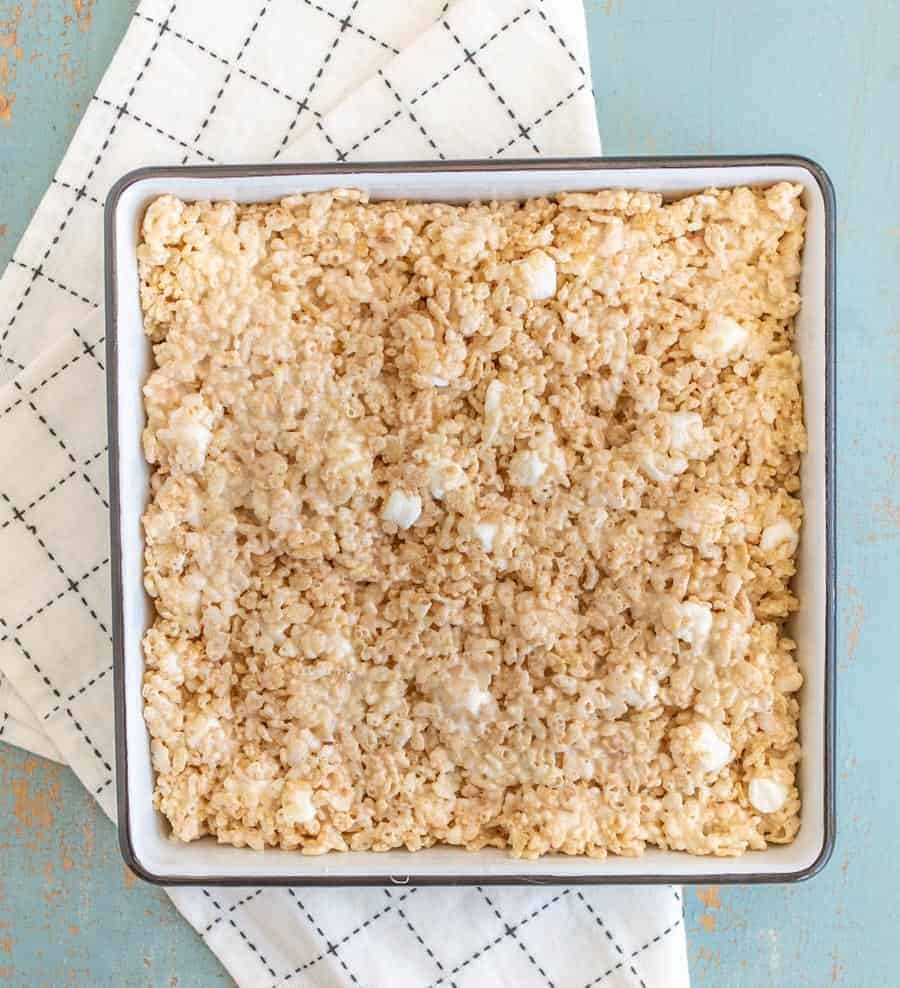 What makes these Perfect Classic Rice Crispy Treats so perfect? A whole lot of love, and a whole lot of butter.