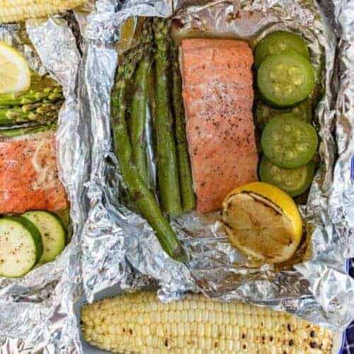 Grilled Salmon Foil Packs with Veggies