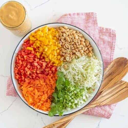Thai Chopped Salad with the Best Peanut Dressing