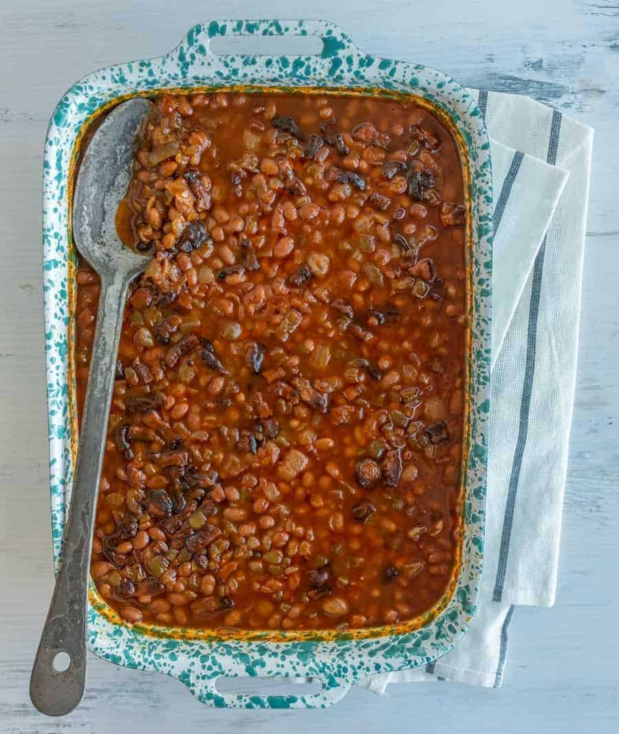 Smoky and savory with just a hint of sweetness, Grandma Lucy's baked beans recipe is famous around my household, and I know it'll be a staple in yours, too.