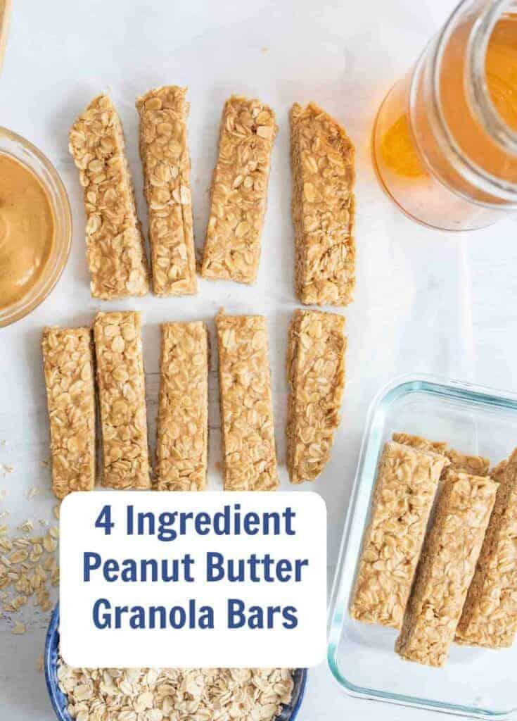 Title Image for No BakePeanut Butter Honey Granola Bars