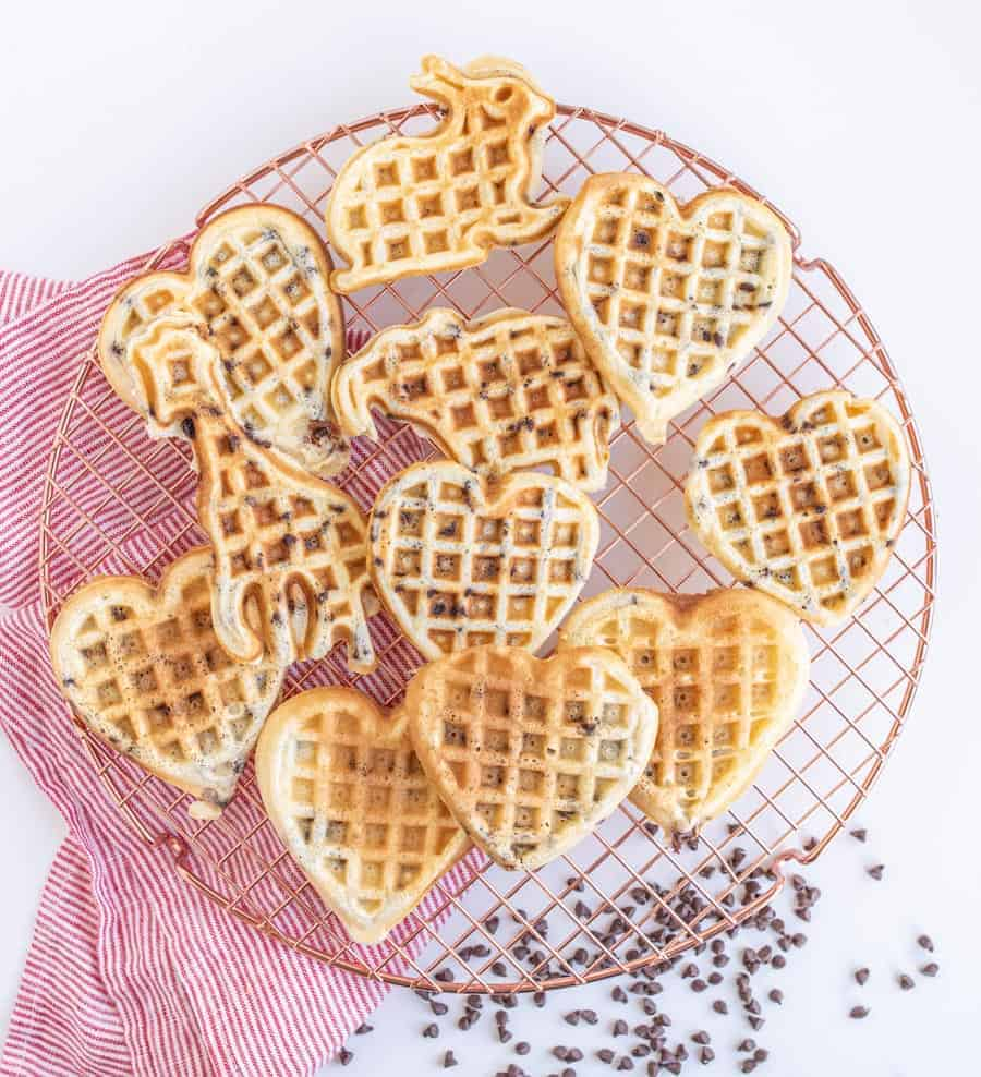 Easy Fluffy Chocolate Chip Waffles Recipe