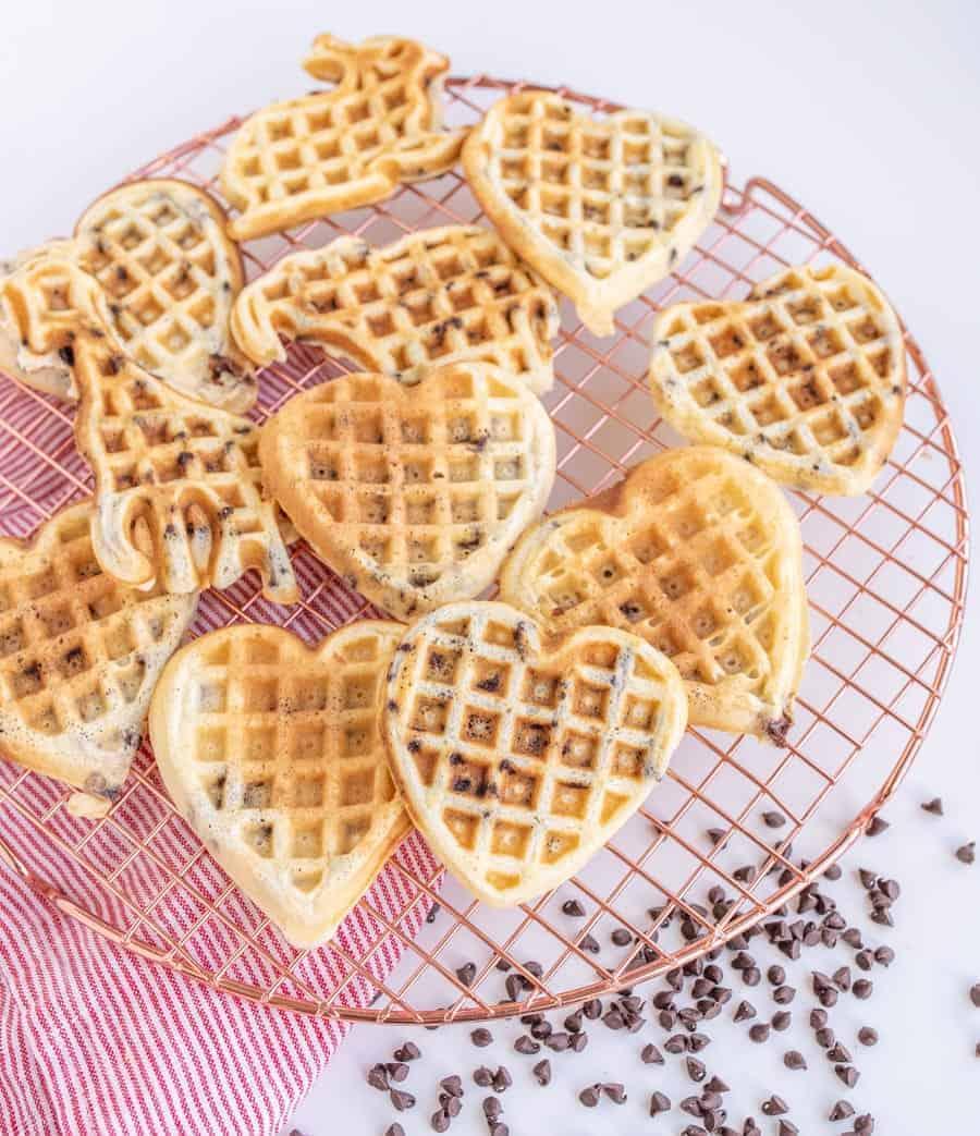 Fluffy Chocolate Chip Waffles Recipe