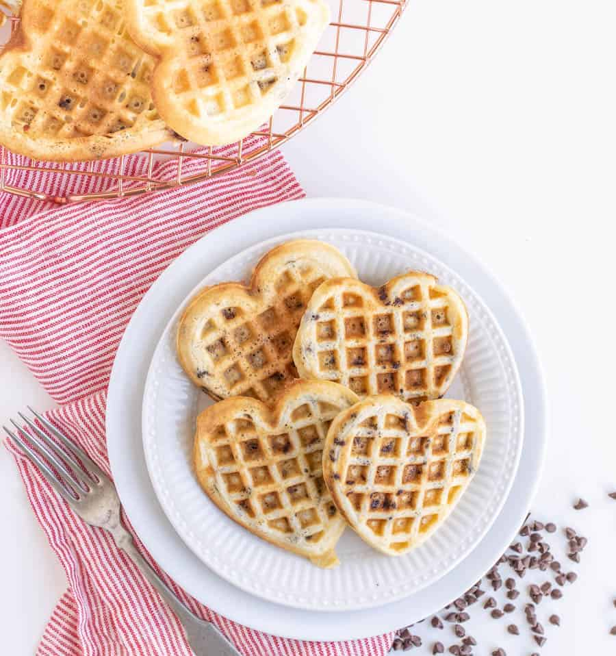 Image of Fluffy Chocolate Chip Waffles
