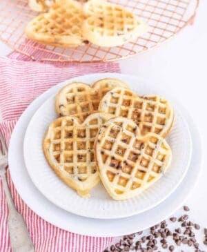 Fluffy Chocolate Chip Waffles
