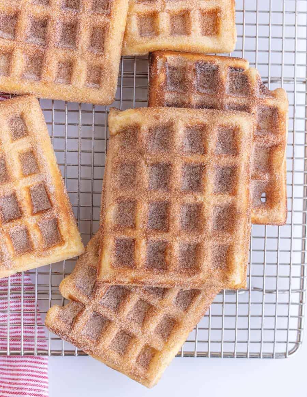 Cinnamon Churro Waffles Recipe