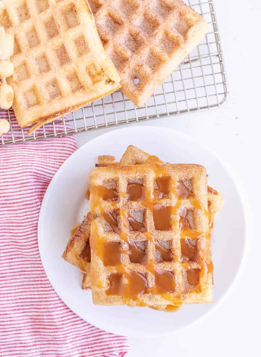 Easy Homemade Churro Waffles