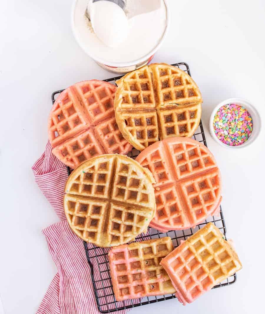 Cake Mix Dessert Waffles Recipe