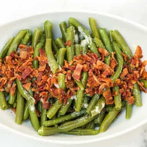 Green Beans with Butter and Bacon