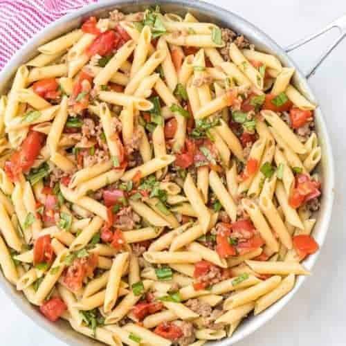 Easy Roasted Tomato & Sausage Pasta