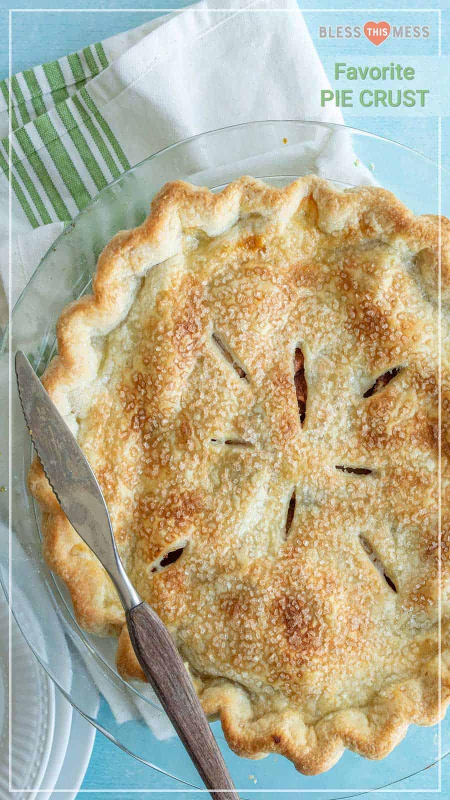 baked gorgeous apple pie crust
