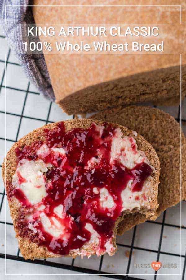 This simple whole wheat bread recipe made with wholesome ingredients will be your new go-to loaf for all your favorite sandwiches and toasts!