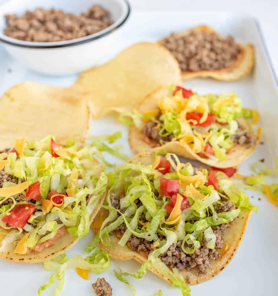 Image of ground beef tostadas