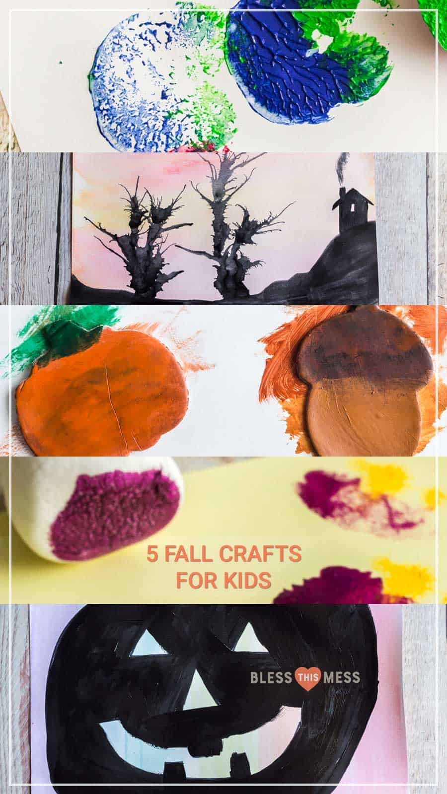 Title Image of 5 Fall Crafts for Kids