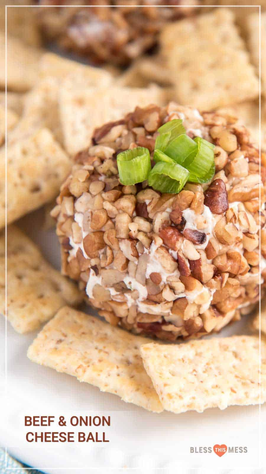 You can never go wrong with a cheese ball, especially when hosting a holiday gathering! Salty, crunchy, and cheesy, it's the perfect appetizer for guests to munch on as they visit with each other. I love how simple they are to throw together, and everyone loves snacking on them before a rich and hearty meal. #cheeseball #homemadecheeseball #cheeseballrecipe #easycheeseball #easyappetizer #partyappetizer #holidayappetizer