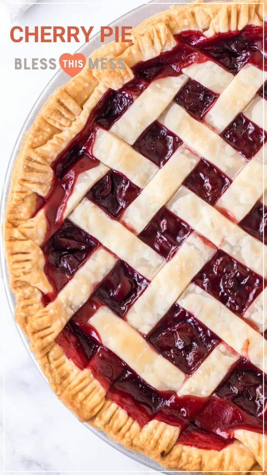 Homemade Cherry Pie Recipe Pin