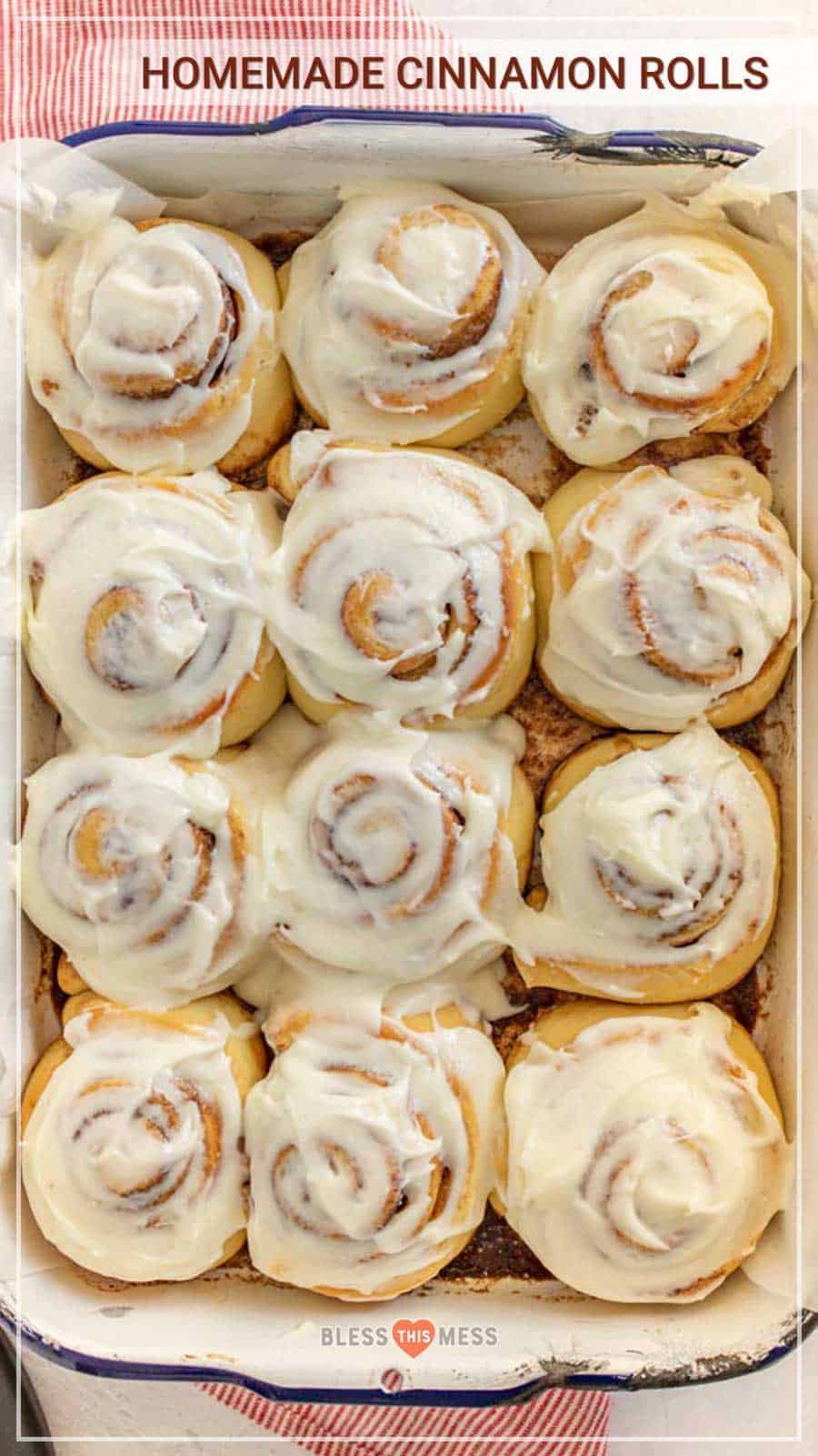 This cinnamon roll recipe creates perfectly fluffy, golden, gooey-on-the-inside rolls with a delicious frosting that you may be tempted to eat by itself! And I promise, it's simple. You can make it on a lounge-y, cool morning and it'll warm you and your loved ones up right away! #cinnamonrolls #cinnamonrollrecipe #breakfastrolls #stickyrolls #stickybuns #baking #homemadecinnamonrolls