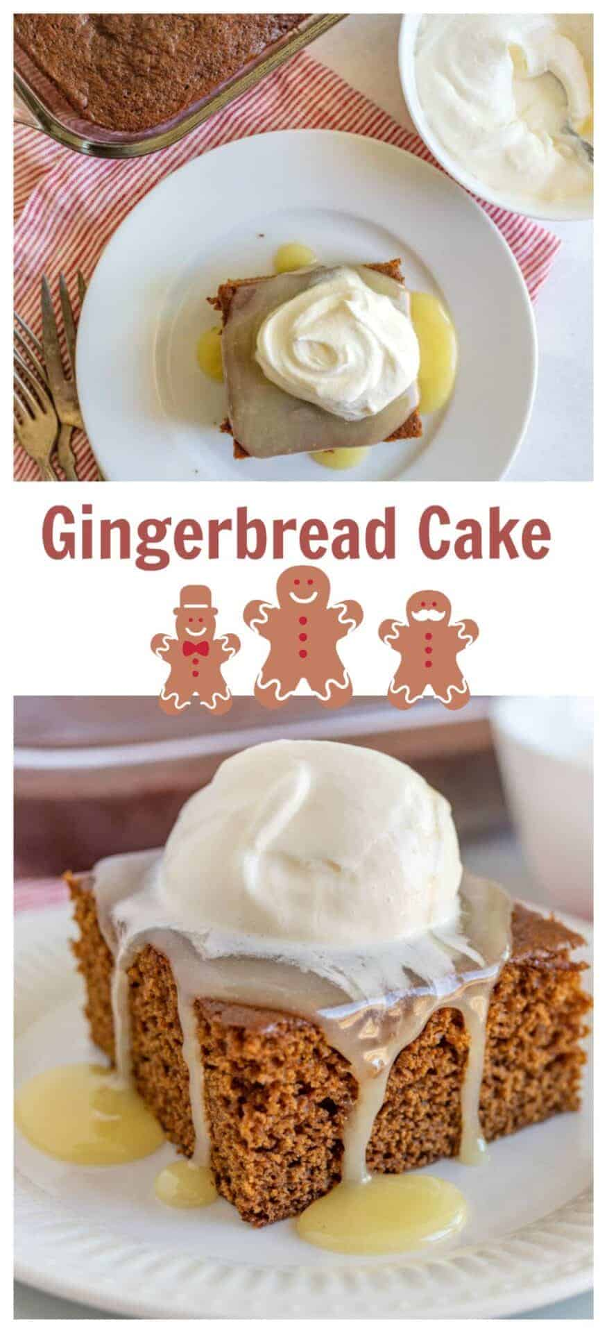 This gingerbread cake made with Bob's Red Mill all-purpose flour is absolutely delicious, easy to make, and the perfect festive holiday dessert to share with loved ones by a cozy fire sipping warm mugs of apple cider. #BobsRedMill #gingerbreadcake #gingerbreadcakerecipe #homemadegingerbreadcake #holidaydesserts #holidaybaking