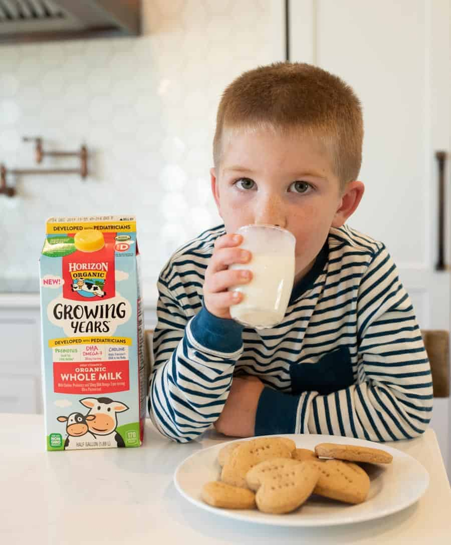 This simple graham cracker recipe is a perfect on-the-go snack for busy days, and they come together easily for stress-free snacking for the whole family. They taste delicious with new @HorizonOrganic Growing Years milk for your kiddos ages 1 to 5! #iHeartHorizon #HorizonGrowingYears #ad #recipe #healthykids #grahamcrackers #homemadegrahams