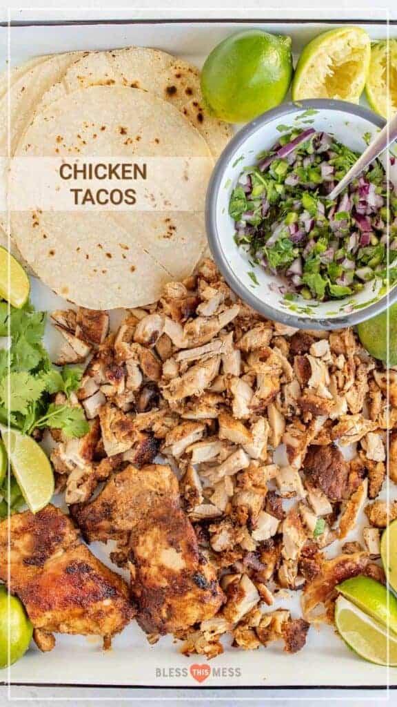 best chicken tacos ever recipe ingredients pin