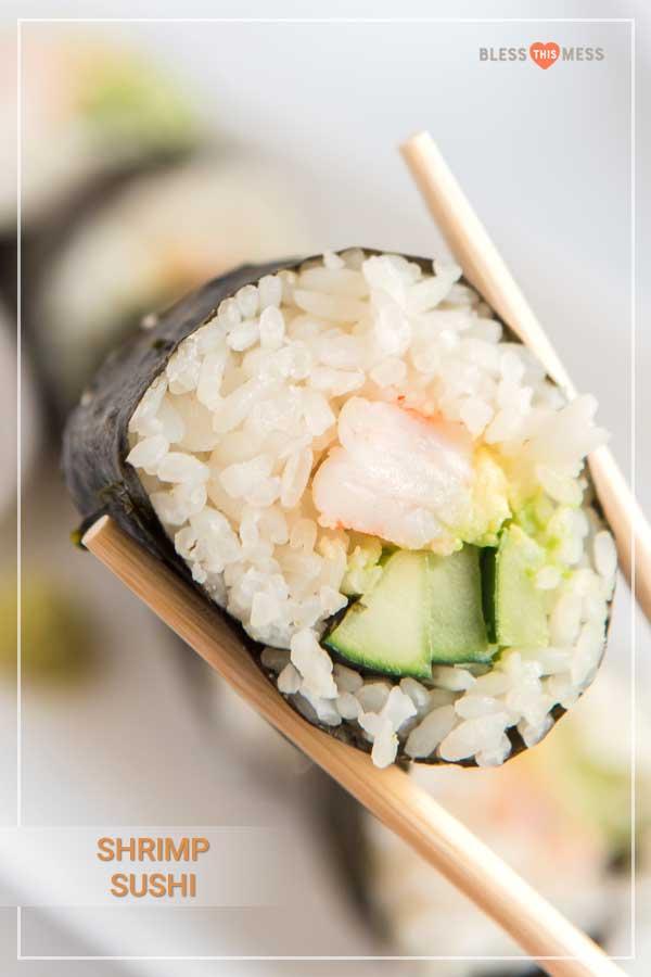 Easy Shrimp Sushi