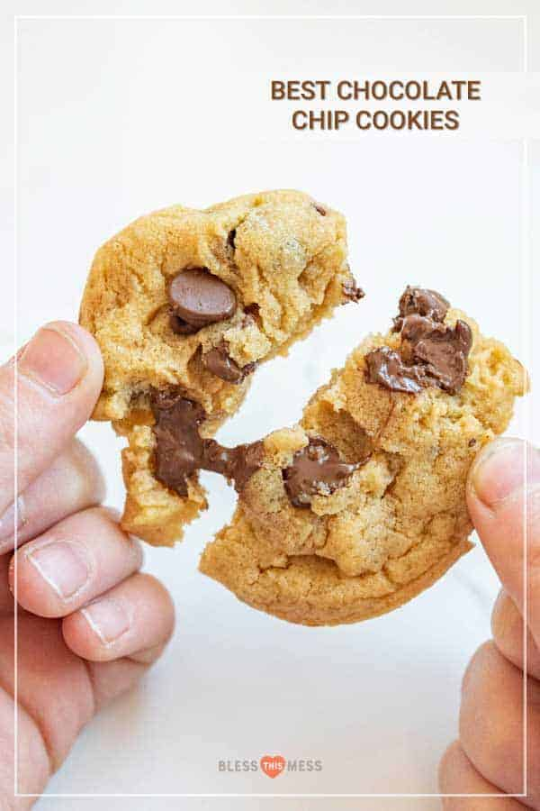 woman holding chocolate chip