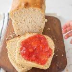 soft sandwich loaf sourdough bread pin image