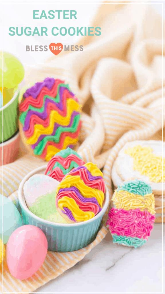 my favorite easter sugar cookie recipe pin image