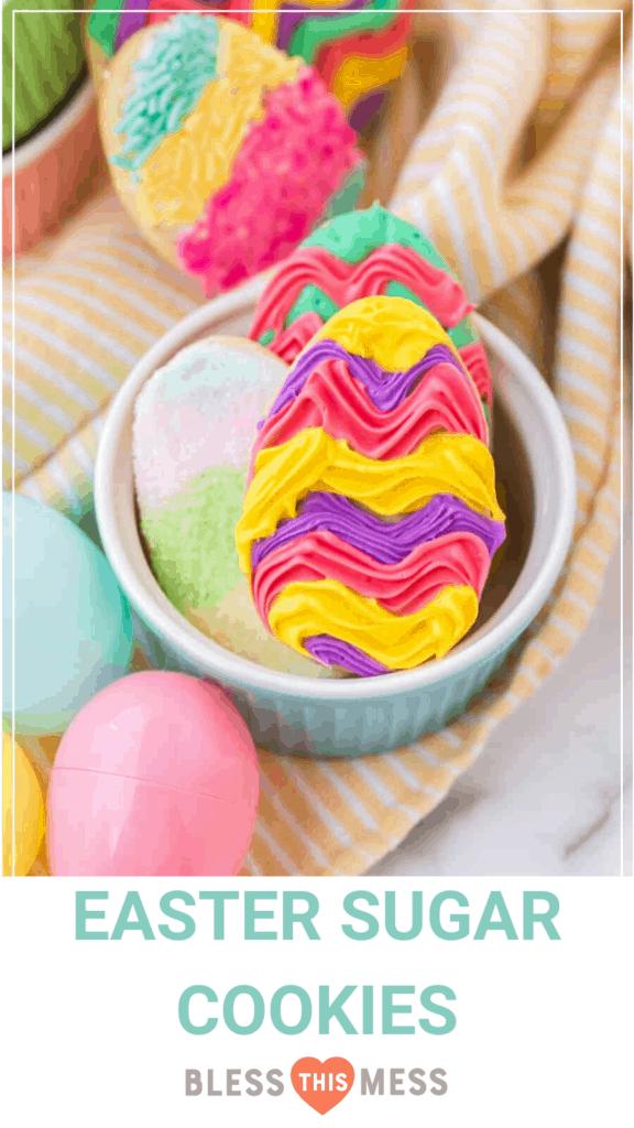 easter sugar cookie pin image