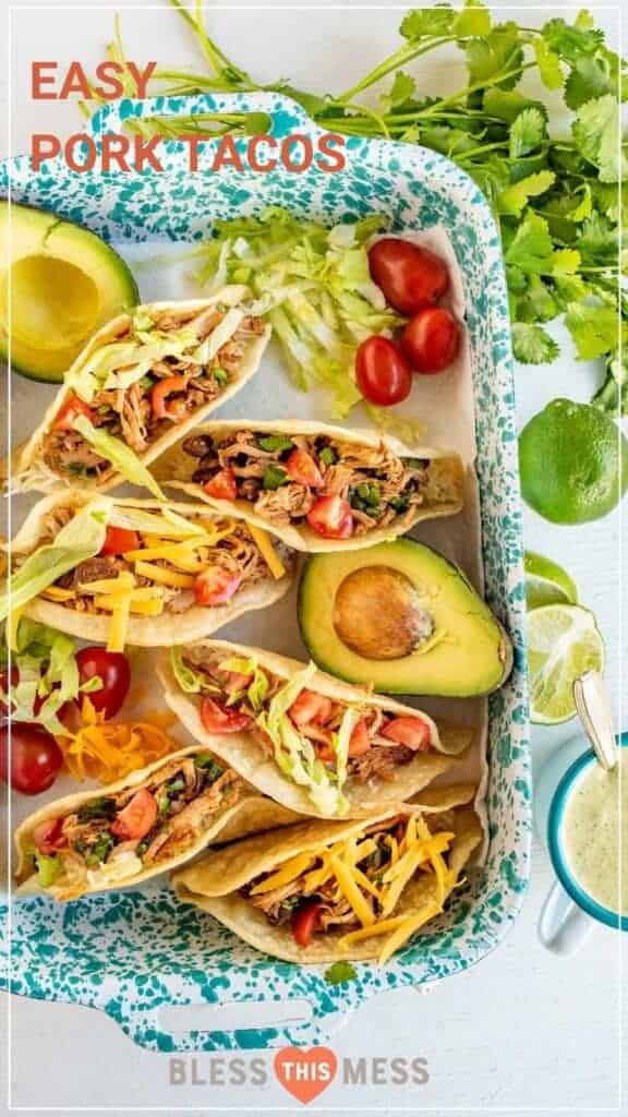 easy pork tacos in casserole dish
