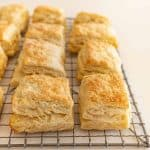 Quick Sourdough Biscuits on cooling rack