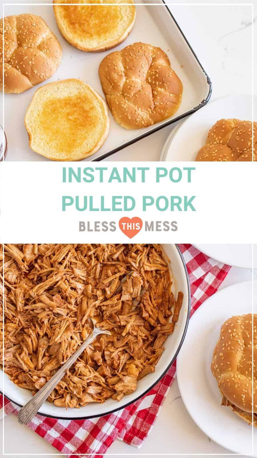 instant pot pulled pork recipe pin