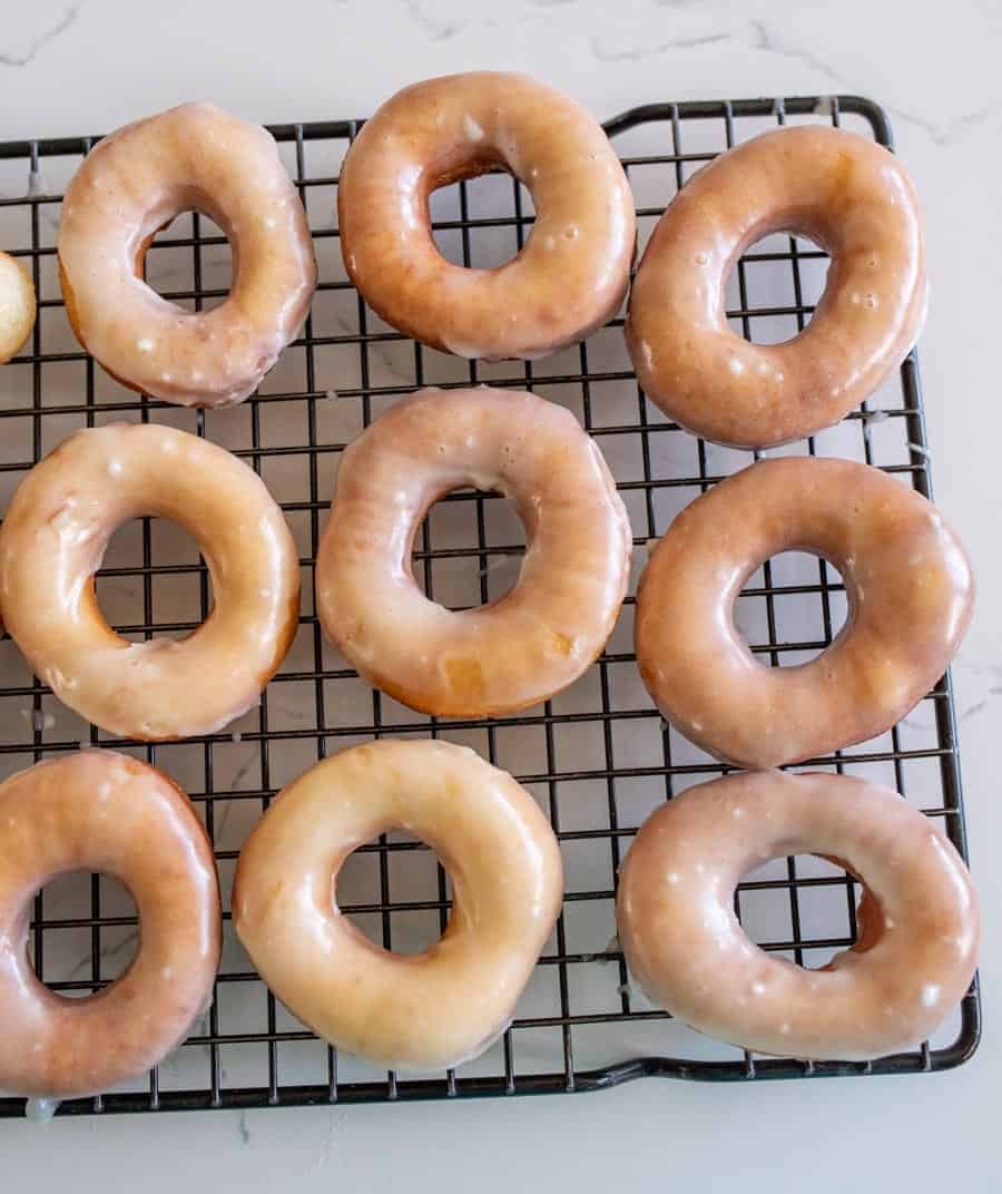 galzed donuts on a wire rack
