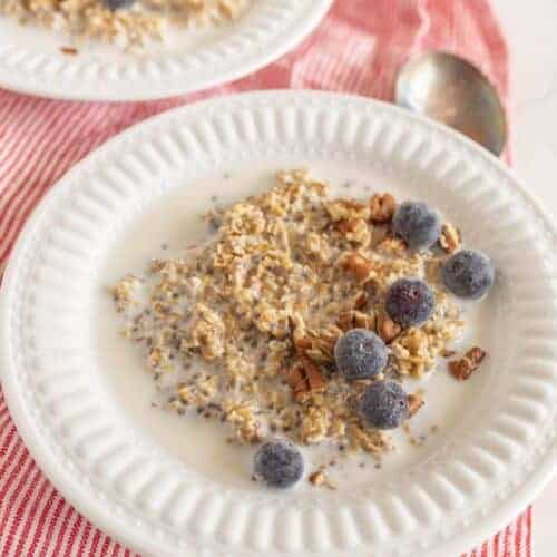 Overnight Steel Cut Oats - the cold cereal method