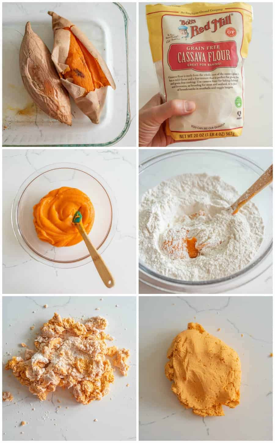 collage on step by step instructions for how to make tortillas