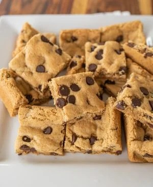 close up of gluten free cookie bars