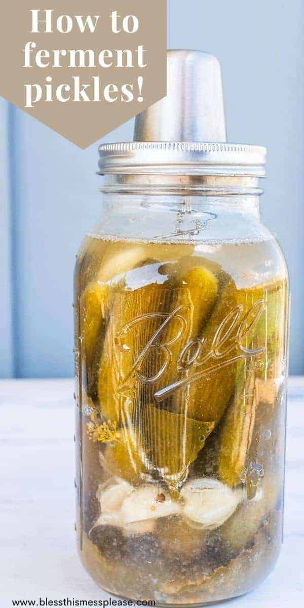 jar of pickles with text overlay