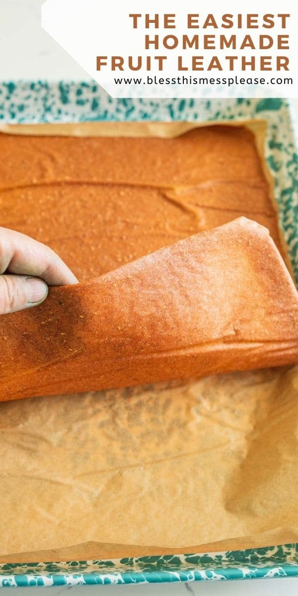 pin for how to make easy fruit leather recipe