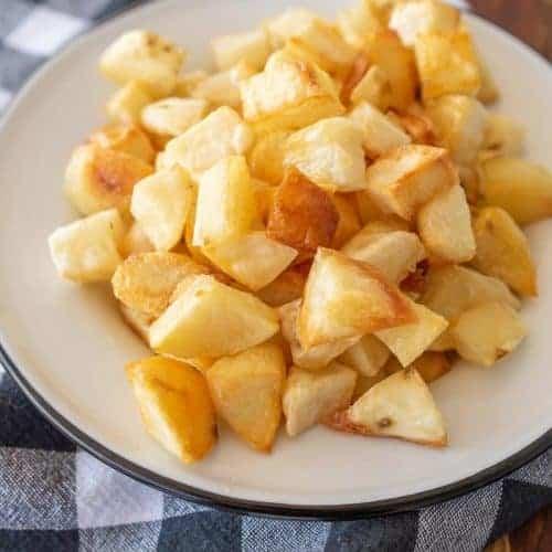 Extra Crispy Roasted Potato Cubes
