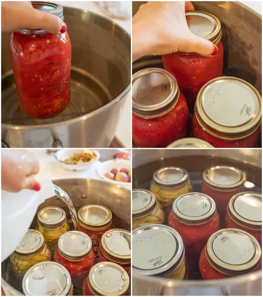 fourth step for canning tomatoes picture collage