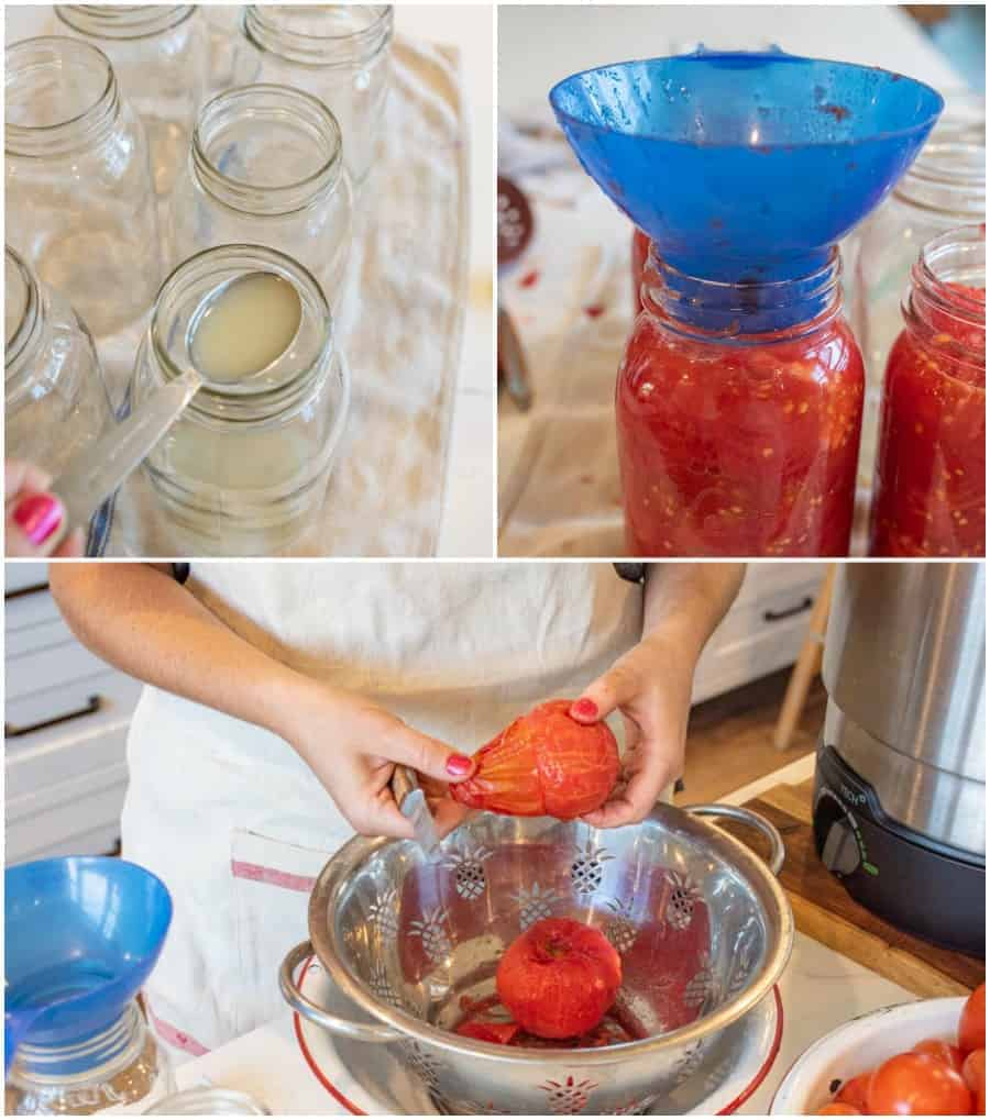 second steps for canning tomatoes